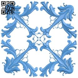 Square pattern design A004762 download free stl files 3d model for CNC wood carving