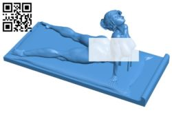 Stand woman – smartphone B006884 file stl free download 3D Model for CNC and 3d printer