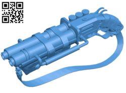 Steampunk shotgun – gun B006795 file stl free download 3D Model for CNC and 3d printer