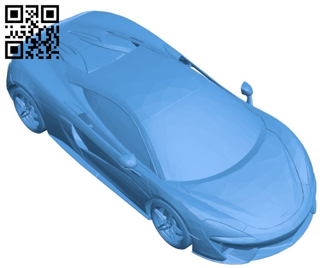 Super car McLaren 570S B006729 file stl free download 3D Model for CNC and 3d printer