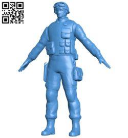 Swat man B006696 file stl free download 3D Model for CNC and 3d printer