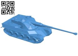Tank AMX 50 B006785 file stl free download 3D Model for CNC and 3d printer