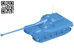 Tank AMX 50B B006817 file stl free download 3D Model for CNC and 3d printer