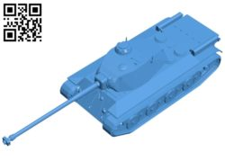 Tank FCM 50t B007018 file stl free download 3D Model for CNC and 3d printer