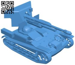 Tank Renault UE 57 B006893 file stl free download 3D Model for CNC and 3d printer