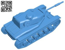Tank STRV 74 B007082 file stl free download 3D Model for CNC and 3d printer