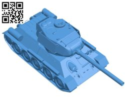 Tank T-34 B006686 file stl free download 3D Model for CNC and 3d printer