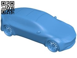 Tesla 3 Car B006664 file stl free download 3D Model for CNC and 3d printer
