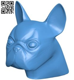 The Bulldog's head – dog B006653 file stl free download 3D Model for CNC and 3d printer