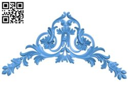 The decor pattern in the corner A004654 download free stl files 3d model for CNC wood carving
