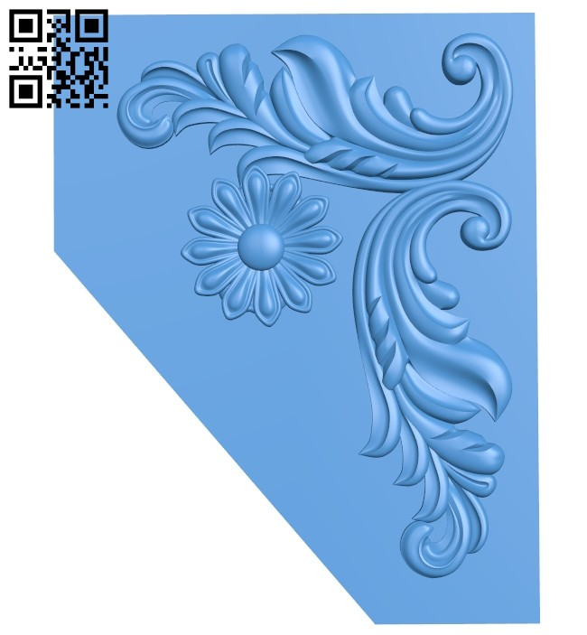 The decor pattern in the corner A004767 download free stl files 3d model for CNC wood carving