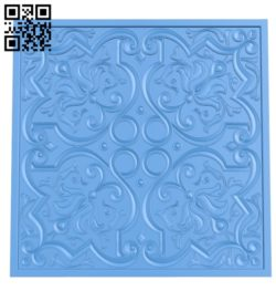 The dekor pattern is square A004649 download free stl files 3d model for CNC wood carving