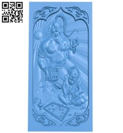 The door pattern is in the shape of a god lamp A004625 download free stl files 3d model for CNC wood carving