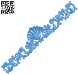The long decor pattern A004763 download free stl files 3d model for CNC wood carving