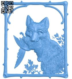 The picture of a fox catches a chicken A004686 download free stl files 3d model for CNC wood carving