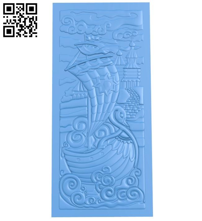 The picture of a swan-shaped boat A004643 download free stl files 3d model for CNC wood carving