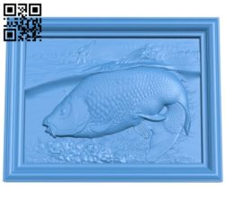 The picture of carp fisherman A004680 download free stl files 3d model for CNC wood carving