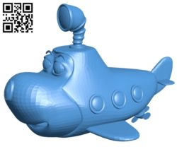 Toy submarine B006999 file stl free download 3D Model for CNC and 3d printer