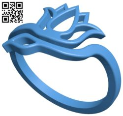 Tulip ring B007046 file stl free download 3D Model for CNC and 3d printer