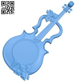 Violin-shaped wall clock A004769 download free stl files 3d model for CNC wood carving