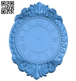 Wall clock pattern A004630 download free stl files 3d model for CNC wood carving