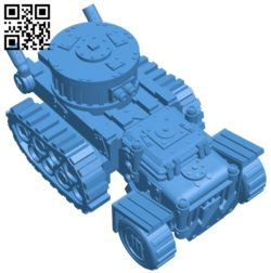 War track B007025 file stl free download 3D Model for CNC and 3d printer