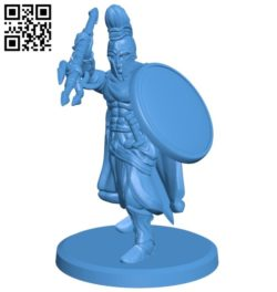 Warrior with trident B007032 file stl free download 3D Model for CNC and 3d printer