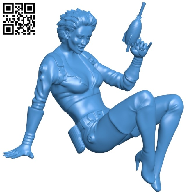 Warrior woman B006961 file stl free download 3D Model for CNC and 3d printer
