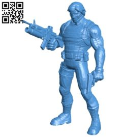 Winter Soldier man B006982 file stl free download 3D Model for CNC and 3d printer