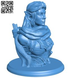 Woman warrior B006991 file stl free download 3D Model for CNC and 3d printer