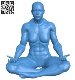 Yoga woman B006994 file stl free download 3D Model for CNC and 3d printer