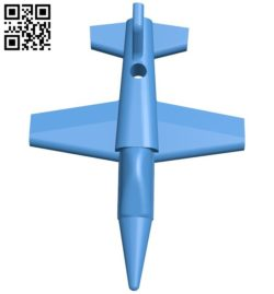 jet keychain B006690 file stl free download 3D Model for CNC and 3d printer