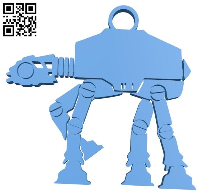 AT-AT keyring B007381 file stl free download 3D Model for CNC and 3d printer