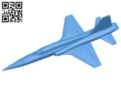Aircraft F5 Tiger B007139 file stl free download 3D Model for CNC and 3d printer