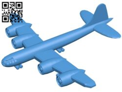 Aircraft b29 B007183 file stl free download 3D Model for CNC and 3d printer