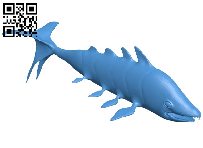 Ancient pisces fish B007374 file stl free download 3D Model for CNC and 3d printer