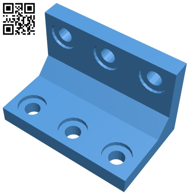 Angle bracket B007329 file stl free download 3D Model for CNC and 3d printer
