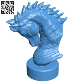 Arabian Horse Bust B007124 file stl free download 3D Model for CNC and 3d printer
