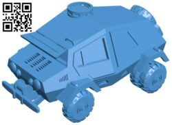 Armored vehicle – tank B007262 file stl free download 3D Model for CNC and 3d printer