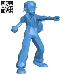 Ash pokemon B007403 file stl free download 3D Model for CNC and 3d printer