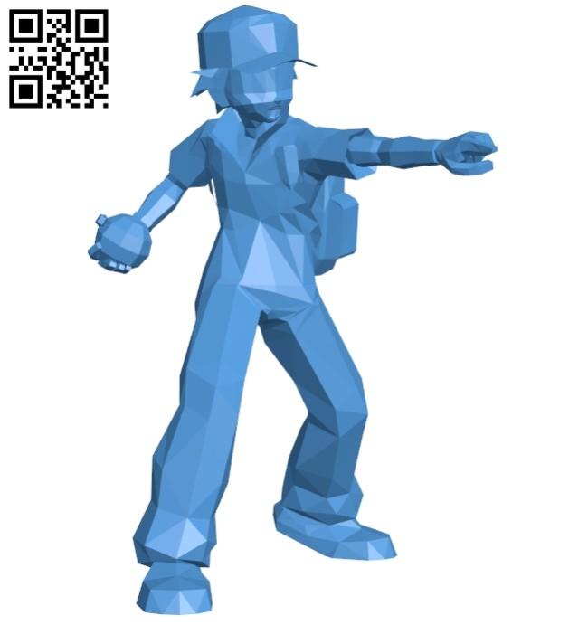 Ash pokemon B007403 file stl free download 3D Model for CNC and 3d printer