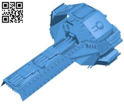 Assault Cruiser ship B007253 file stl free download 3D Model for CNC and 3d printer