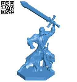 Attacking Warrior B007453 file stl free download 3D Model for CNC and 3d printer