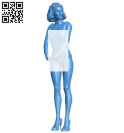Attractive woman B007535 file stl free download 3D Model for CNC and 3d printer
