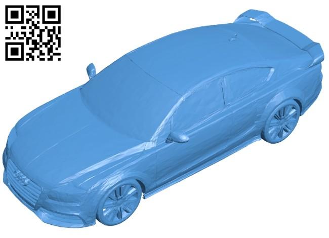Audi R7 concept car B007537 file stl free download 3D Model for CNC and 3d printer