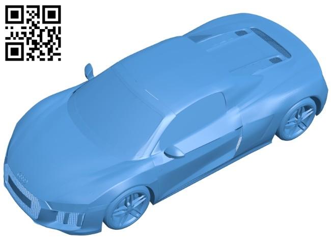 Audi R8 2017 car B007538 file stl free download 3D Model for CNC and 3d printer