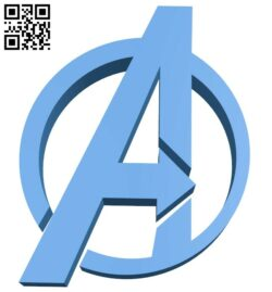 Avengers Logo B007539 file stl free download 3D Model for CNC and 3d printer