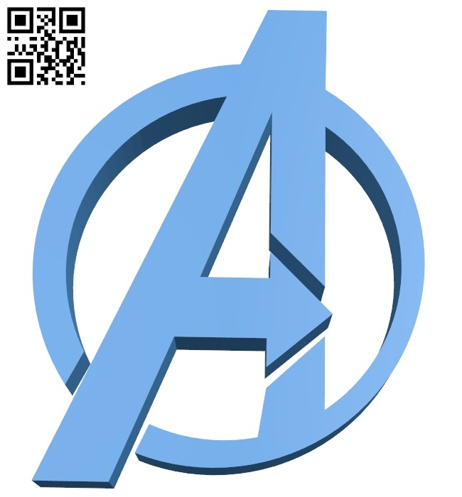 Avengers Logo B007539 file stl free download 3D Model for CNC and 3d printer