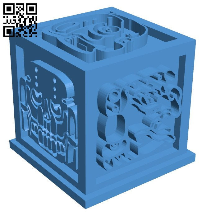 Aztec cube artifact B007540 file stl free download 3D Model for CNC and 3d printer