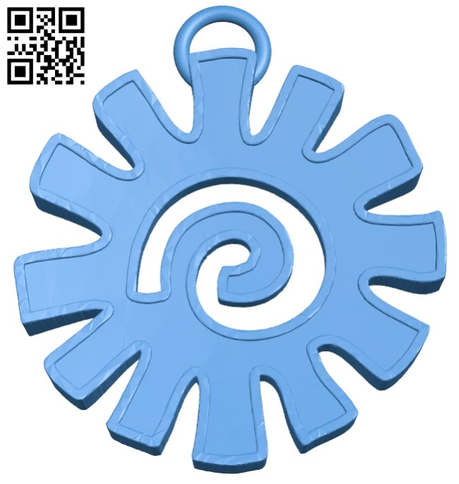 Aztec keychain B007547 file stl free download 3D Model for CNC and 3d printer